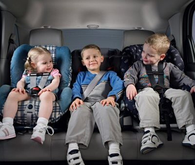 Equinox is one of the few compact SUVs that can accomodate three child safety seats in the rear seat. X06CT_EQ007